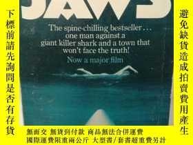 二手書博民逛書店大白鯊罕見Jaws by Peter Benchley (電影原