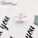 現貨 抓夾 韓國少女氣質甜美百搭法式花朵珍珠小抓夾 瀏海夾 S8202 批發價 Danica 韓系飾品
