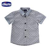 chicco-夏威夷-提織短袖襯衫-青