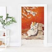 可愛時尚棉麻門簾E349 廚房半簾 咖啡簾 窗幔簾 穿杆簾 風水簾 (65寬*90cm高)