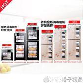 220V 消毒柜家用立式商用迷你柜式消毒碗柜小型台式餐具碗柜QM   橙子精品
