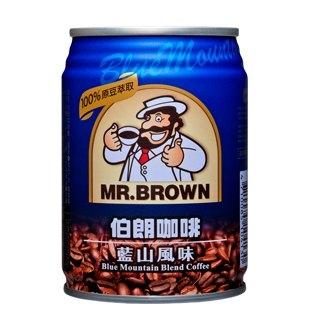 金車伯朗咖啡藍山風味240ml【康鄰超市】