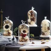 永生花干花玻璃罩工藝品創意家居客廳裝飾品擺設新年生日結婚禮物「摩登大道」