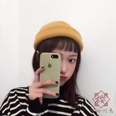 日系針織帽男女圓頂帽牌毛線保暖帽子秋冬【櫻田川島】