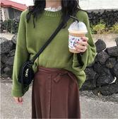 圓領長袖毛衣秋裝女2018新款韓版百搭寬鬆顯瘦套頭針織衫上衣學生 居享優品