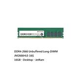 新風尚潮流 【JM2666HLE-16G】 創見 DDR4-2666 桌上型記憶體 16GB CL19 2Gx8 Transcend LONG-DIMM