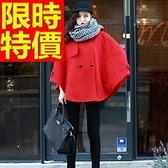 斗篷外套-時尚小高領寬鬆披風女毛呢外套3色65n22[巴黎精品]