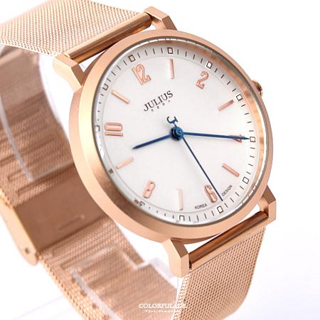 手錶 正韓Julius玫金數字鋼索腕錶 柒彩年代【NEK5】單支