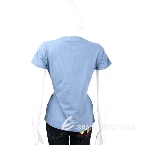 TRUSSARDI 灰藍色亮片LOGO棉質短袖T恤 1620448-59