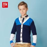 JJLKIDS 男童 海軍小型男針織外套(藏青)