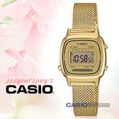 CASIO手錶專賣店   LA670WEMY-9D 輕巧電子女錶 不鏽鋼錶帶 金色錶面 LA670WEMY
