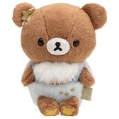 小禮堂 懶懶熊 絨毛玩偶 絨毛娃娃 小型玩偶 布偶 (S 棕藍 天使) 4974413-78007