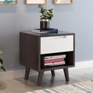 床頭櫃北歐簡約實木原木色小櫃子桌主臥室鬆木床頭櫃儲物收納櫃床邊櫃CY『新佰數位屋』