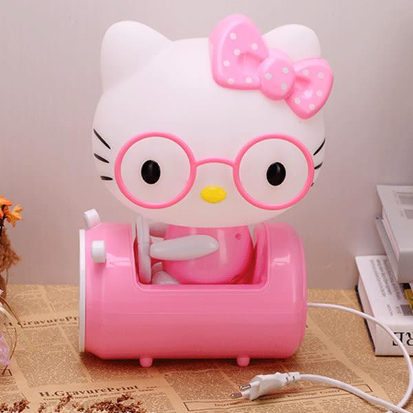 卡通超萌hello kitty插電台燈 臥室床頭三檔觸摸台燈 觸控小夜燈
