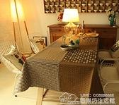 棉麻桌布咖啡色餐廳桌布布藝西餐桌布客廳茶幾台布長方形亞麻 【全館免運】