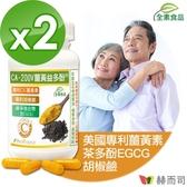 【赫而司】CA-200V二代專利薑黃益多酚全素食膠囊(90顆*2罐)薑黃素+EGCG