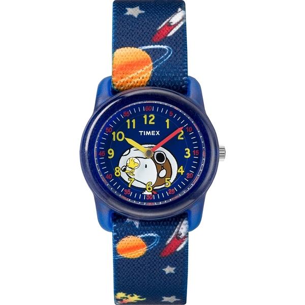 【TIMEX】天美時 x SNOOPY 限量聯名系列星球款手錶 ( 藍 TXTW2R41800)