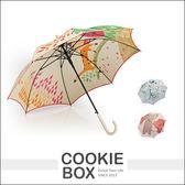 老鼠見貓 無接縫 一片 自動傘 雨傘 直傘 雨具 卡通 動物 造型 插畫 設計 堅固 防風 抗UV *餅乾盒子*