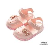 寶寶涼鞋女夏季防滑男童女童洞洞鞋小童果凍鞋包頭兒童拖鞋沙灘鞋【聚物優品】