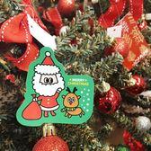 【BlueCat】聖誕節綠底向右看老人揮手呆萌麋鹿貼紙 (4枚入)