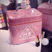 化妝包 女化妝包大容量小號便攜韓國簡約可愛少女收納盒品大號化妝箱手提