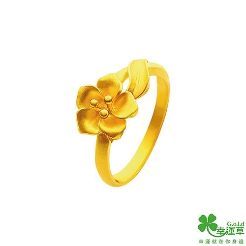 幸運草金飾 光陰黃金戒指