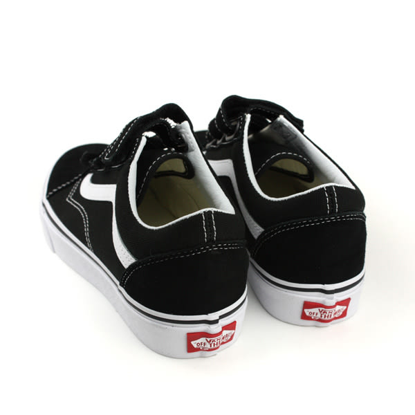 VANS Old Skool 休閒布鞋 魔鬼氈 黑色 男女鞋 181010570 no500