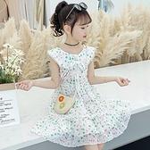 洋裝 女童洋裝連衣裙夏裝新款韓版兒童裝夏季裙子女大童洋氣雪紡公主裙 快速出貨