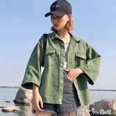 女裝韓版寬鬆糖果色洗水牛仔外套女學生純色休閒夾克 「潔思米」