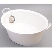 日本製【INOMATA】Moomy手提式浴盆附排水孔12L / 3113