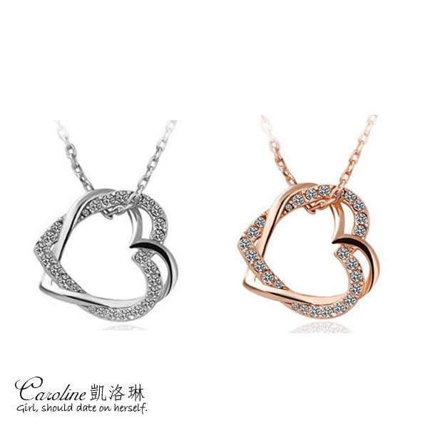 《Caroline》★【讓懂妳的人愛妳】質感精緻‧迷人氣質甜美魅力、水晶時尚項鍊66155