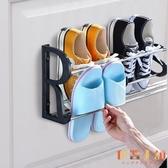 免打孔浴室拖鞋架壁掛式墻壁簡易門口鞋架衛生間收納【倪醬小舖】