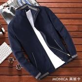 現貨 純棉男士外套休閒青年春秋季寬鬆秋冬季中年男裝牛仔夾克薄款外衣  12-12