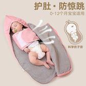 防驚跳睡袋新生兒抱被春秋純棉嬰兒用品薄款秋冬加厚寶寶包被【全館滿千折百】