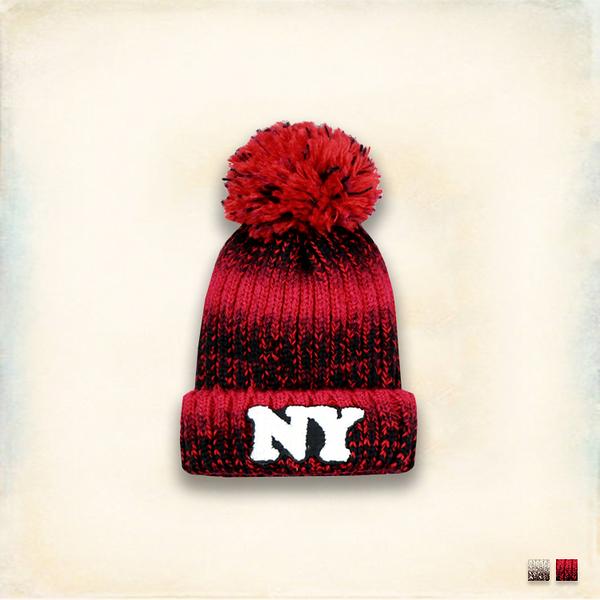 Melek 毛帽類 (共2色) 現貨 【A01151206-0401~05】女W毛帽NY漸層款 球球毛帽/暖冬毛帽
