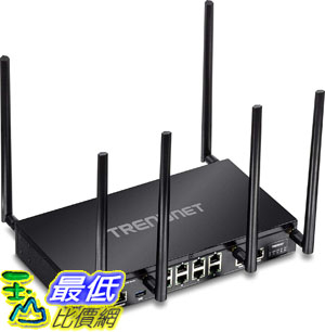 美國代購  TRENDnet AC3000 Tri-Band Wireless Gigabit Dual-WAN VPN SMB Router MU-MIMO Wave