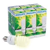 PHILIPS飛利浦 Helix 27W螺旋省電燈泡(6入組)(黃)