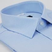 【金‧安德森】藍色千鳥紋窄版短袖襯衫