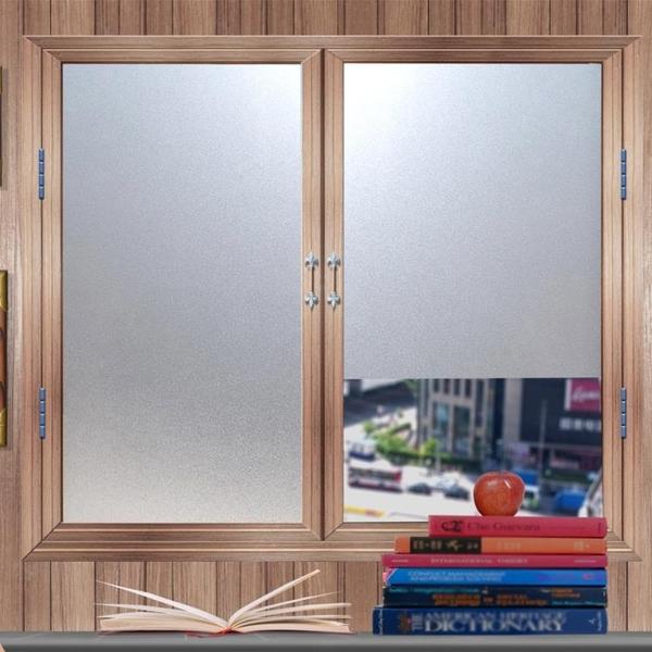 免膠玻璃貼紙衛生間玻璃貼膜浴室磨砂窗貼透光不透明辦公室玻璃紙 mks宜品