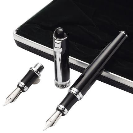 優惠兩天-★鋼筆★德國公爵D2鋼筆雙筆頭/兩用筆彎尖美工書法筆頭彎頭筆