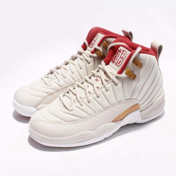 【NG出清】Nike Air Jordan 12 Retro CNY GG 中國新年 米白 紅 女鞋 大童鞋 鞋面破洞 部分擦傷【PUMP306】