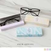 《ZB1172》  清新印花皮質眼鏡盒 OrangeBear