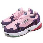adidas 老爹鞋 Falcon W 粉紅 紫 麂皮鞋面 復古 老爺鞋 爸爸鞋 運動鞋 女鞋【PUMP306】 BD7825
