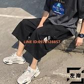 工裝七分褲男薄款外穿潮流大碼寬鬆休閒短褲子【左岸男裝】