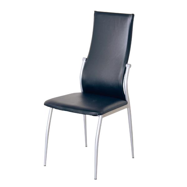 【采桔家居】杜哈格 時尚皮革造型餐椅二入(二色可選)