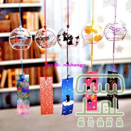 【2個裝】日式風鈴掛飾品小掛件玻璃鈴鐺【樹可雜貨鋪】