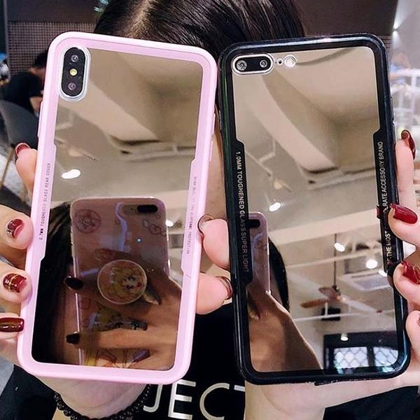 新品特價 網紅補妝鏡華為P30暢享10plus手機殼榮耀20新9X潮8X防摔Nova6軟10