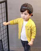 男童女小童裝長袖休閒外套1-3-6歲寶寶嬰幼兒純棉開衫
