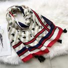 日系小貓咪可愛棉麻圍巾 WM-5591  | OS小舖