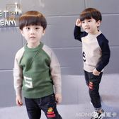 男童毛衣套頭 秋冬款長袖韓版2-3-4-5-6周歲中小兒童男寶寶針織衫   莫妮卡小屋